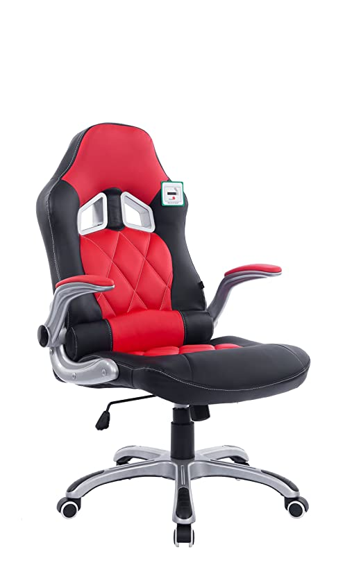Cherry Tree Furniture Racing Car Seat Style High Back Office Recline Swivel Desk  Chair With Adjustable