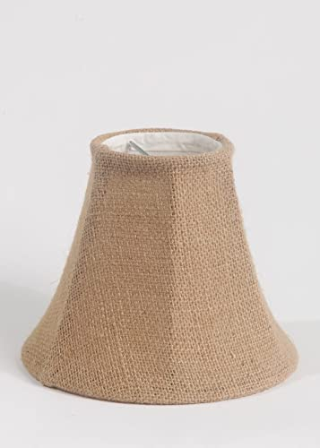 Urbanest 1100258d Chandelier Lamp Shade 6-inch, Bell, Clip on, Burlap Set of 9