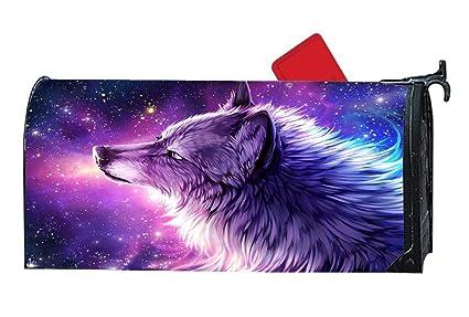 Amazon.com: Rockwell F Berlin Galaxy Eyes Wolf Mailbox ...