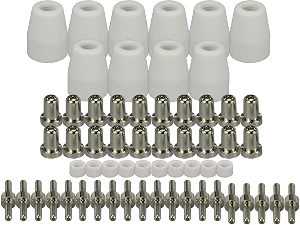 80 Pcs LG-40 PT-31 Plasma Cutter Consumables Extended Nickel-Plated CUT40 50 MY