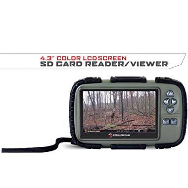 Stealth Cam SD Card Reader and Viewer with 4.3  LCD