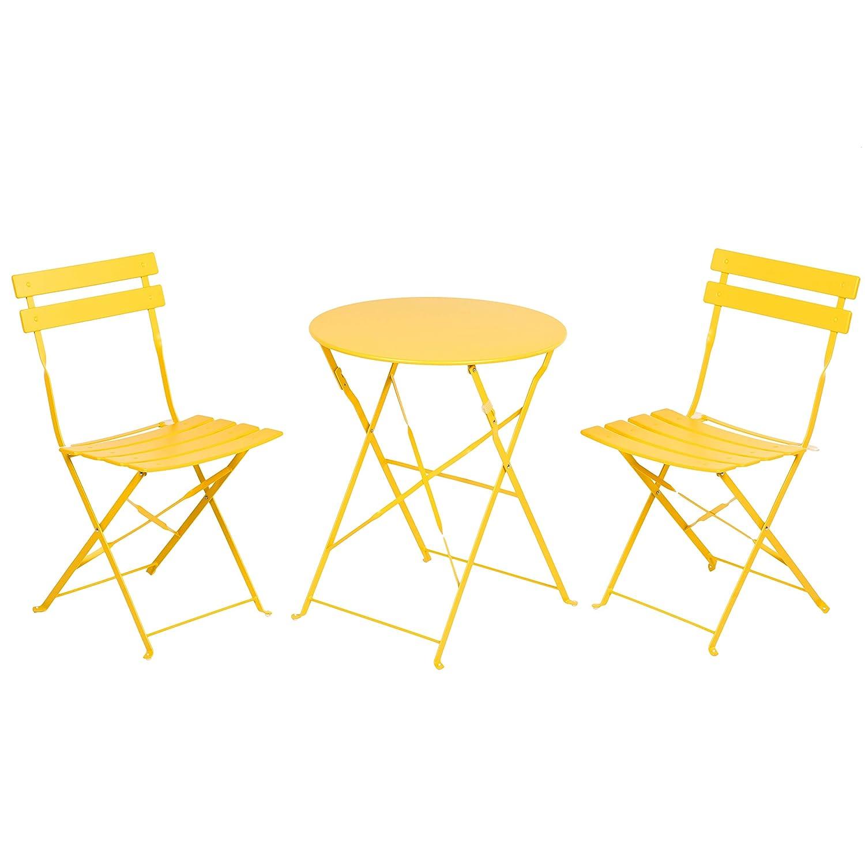 b25cda1b32bb Amazon.com : Grand patio Premium Steel Patio Bistro Set, Folding Outdoor  Patio Furniture Sets, 3 Piece Patio Set of Foldable Patio Table and Chairs,  ...