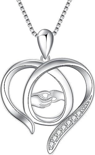 Cubic Zirconia Women 925 Sterling Silver Pendant Box