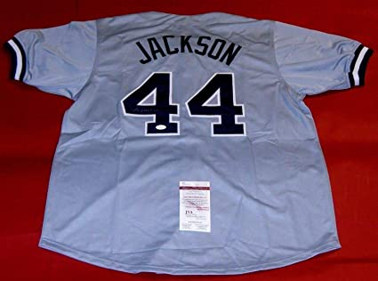 Image Unavailable. Image not available for. Color  REGGIE JACKSON  AUTOGRAPHED NEW YORK YANKEES JERSEY ... 70a589e9c6a