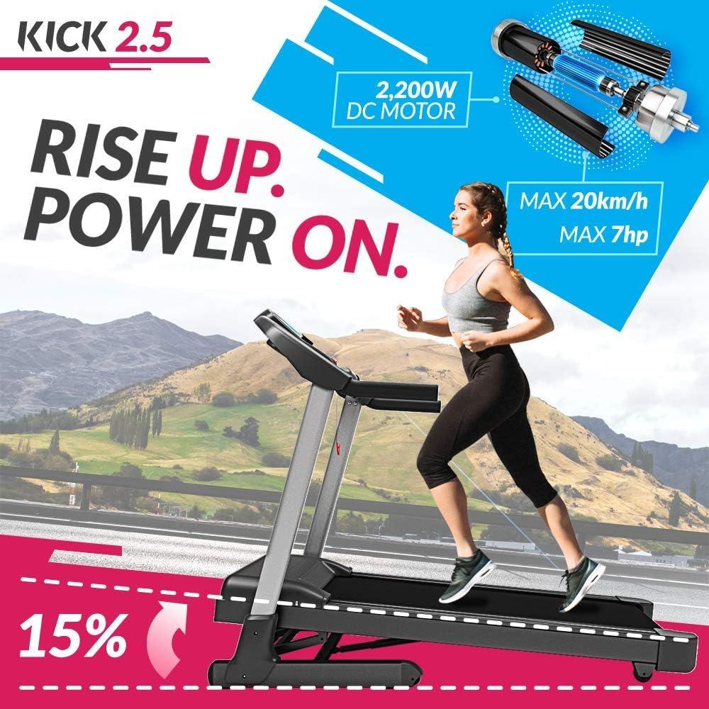 Bluefin Fitness Cinta de Correr Plegable de Alta-Velocidad Kick ...