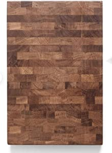 Daddy Chef End Grain Wood cutting board - Wood Chopping block - Large cutting board 18 x 12 - Kitchen butcher block cutting board with feet - Kitchen Wooden chopping board (DT18x12)