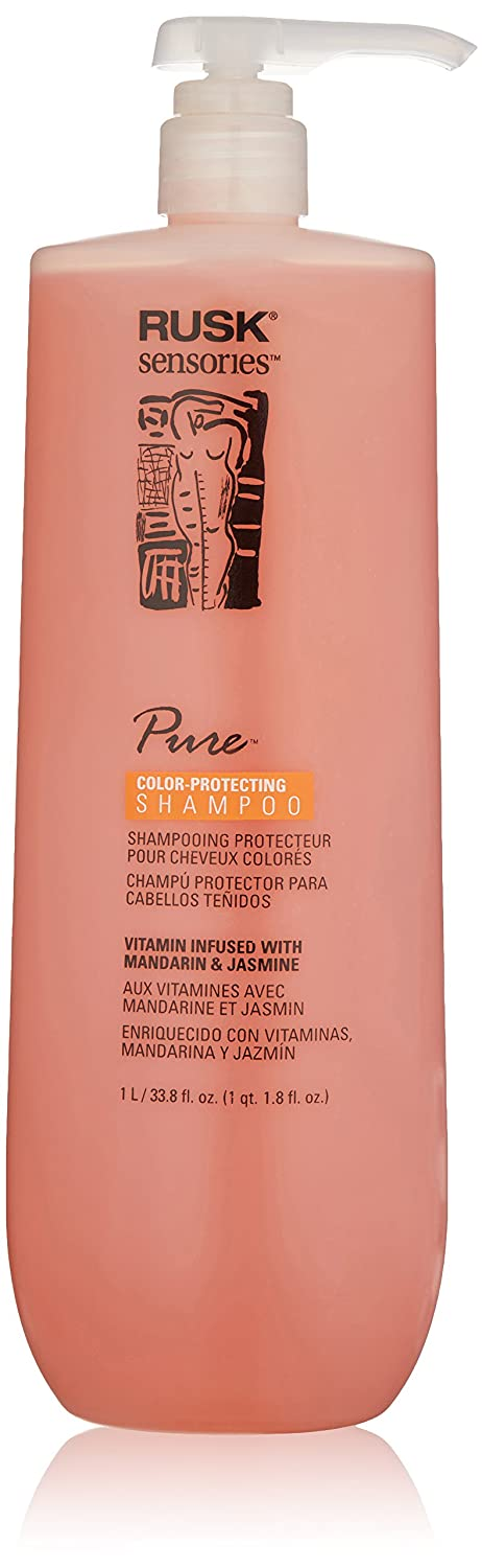 Amazon.com: RUSK Sensories Pure Mandarin and Jasmine Vibrant Color Shampoo ,33.8 fl.oz.: Luxury Beauty