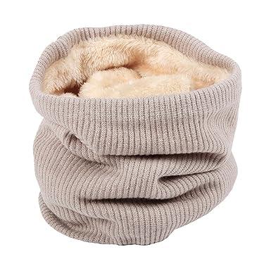 Homieco Femme Hiver Chaud laine tricot col cercle laine Blend Cowl Snood  Cache-Col Coton fd726a37cf0