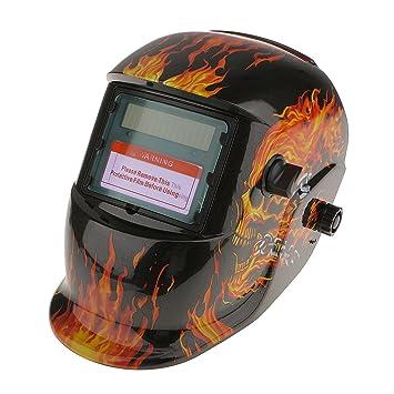 SM SunniMix Oscurecimiento Automático De Soldadura Por Solar Casco De Soldador Mig Molienda Máscara Negro - Negro: Amazon.es: Bricolaje y herramientas