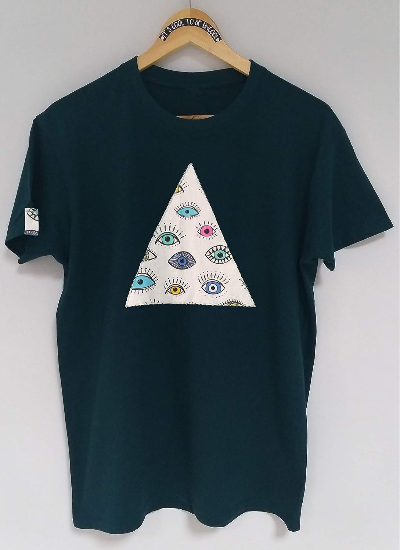 Camiseta /«Ojos geometric madness/»