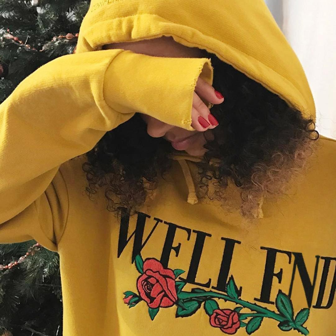 sudaderas mujer baratas invierno otoño 2017 Switchali sudaderas mujer con capucha de manga larga camisetas mujer blusa Suelto ropa de mujer en oferta casual ...