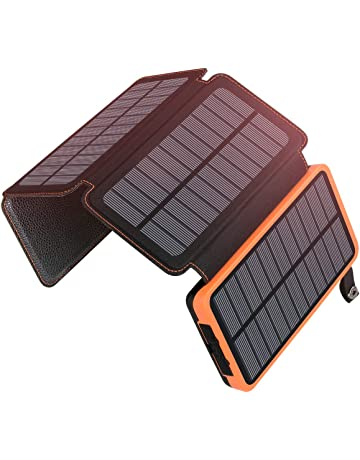 f2a667f40558cc ADDTOP Solar Charger 25000mAh Portable Solar Power Bank with 4 Panels  Waterproof Battery Pack for iPhone
