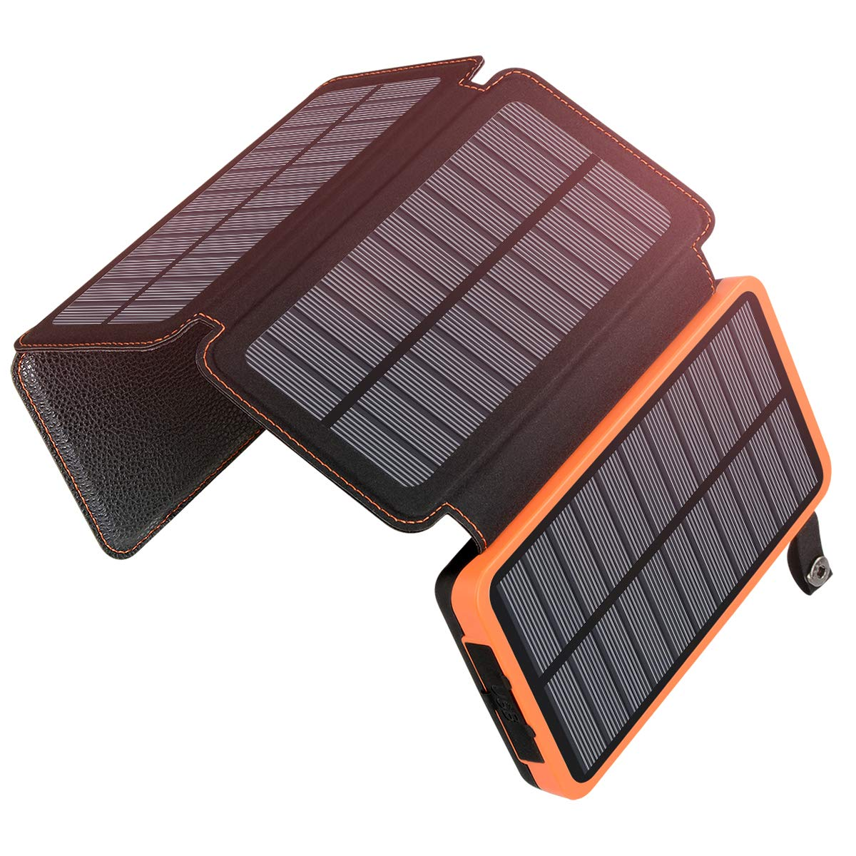 25000mAh Solar Charger ADDTOP Portable Solar Power Bank with Dual 2.1A Outputs Waterproof External Battery Pack Compatible Most Smart Phones, Tablets and More by ADDTOP