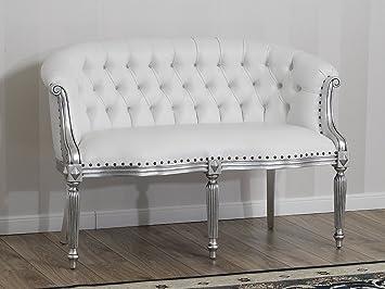 Divano Isabelle stile Barocco Moderno 2 posti foglia argento ...
