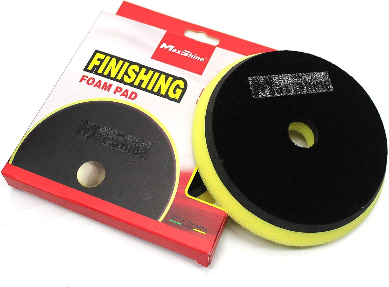 Maxshine Low Profile Yellow Foam Finishing Pad Rubber Backed 5 Inch//130mm