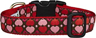 product image for Up Country Heart and Valentine Patterns Dog Collars and Leashes (All Hearts Dog Collar, X-Large (18 to 24 Inches) 1 Inch Wide Width)