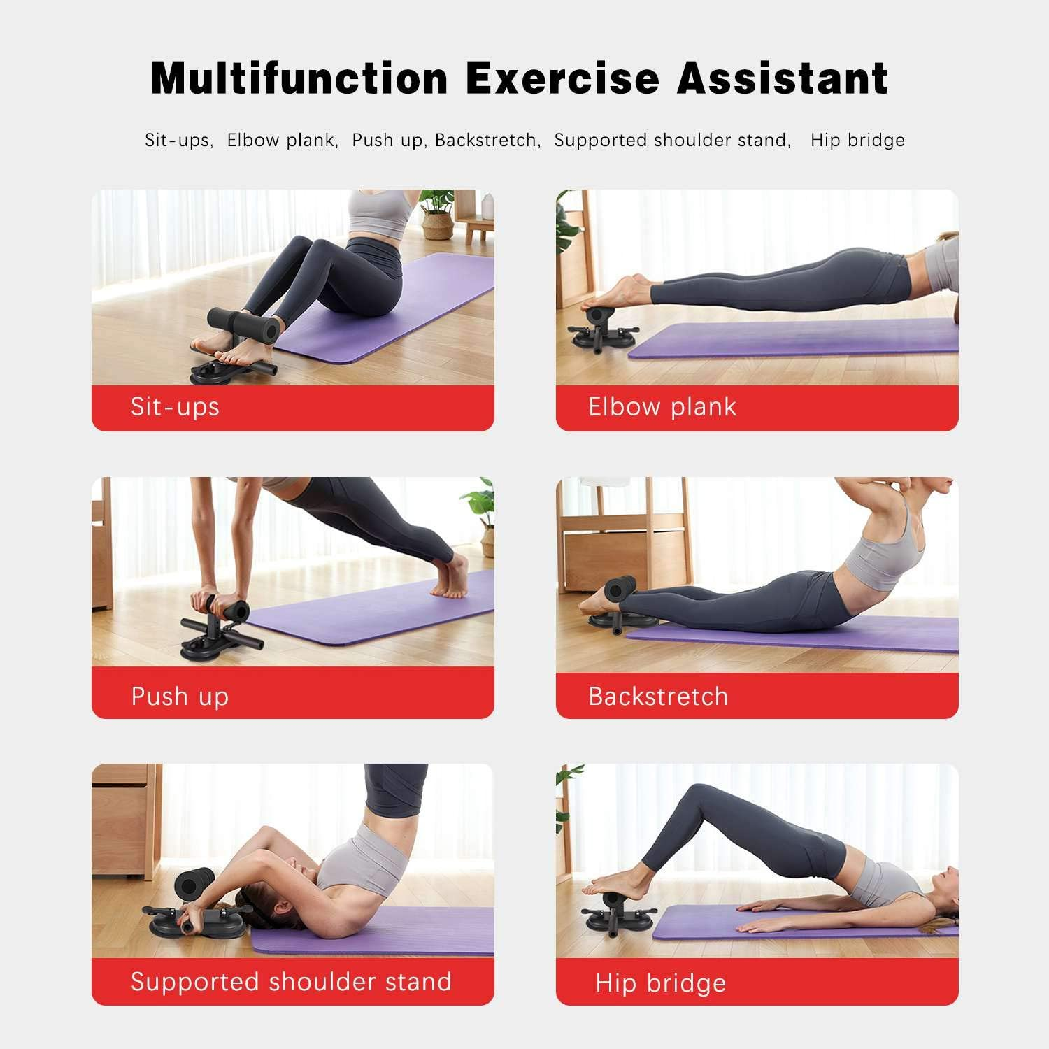 Flyfan Portable Floor Sit Up Assistant Device for Abdominal Training