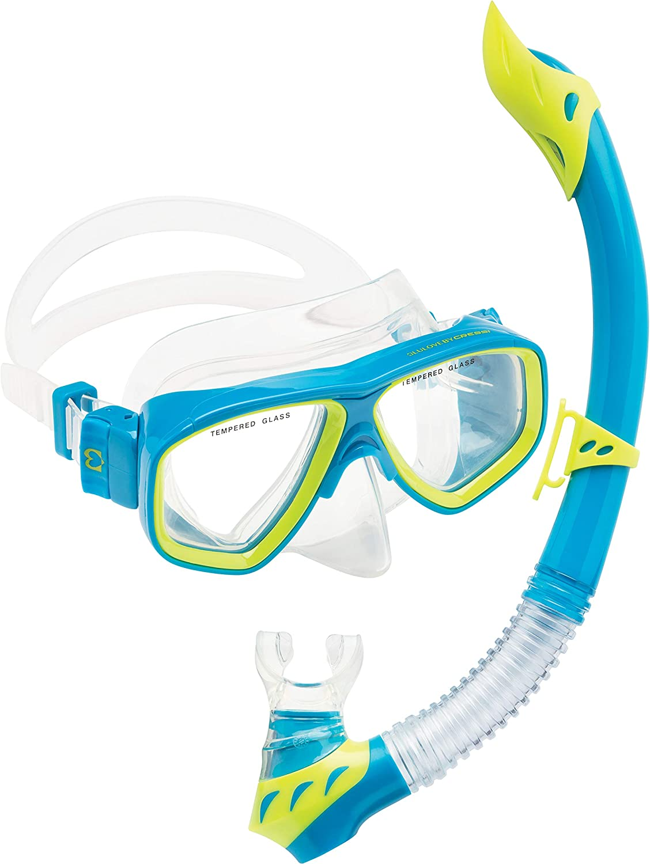 Divers Regal Kids Mask and Dry Top Snorkel Set Open Box Teal//Purple U.S