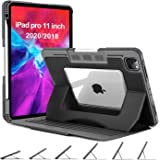 OCYCLONE iPad Pro 11 Case 2020, 6 Viewing Angles Magnetic Stand + Apple Pencil Holder + Auto Wake/Sleep + Heavy Duty…
