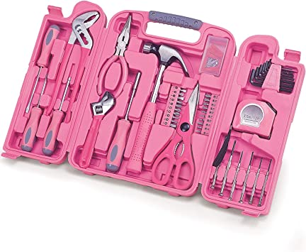 rosa Geschenk Handwerkzeug Haushalt Set Hammer Lady Werkzeugset 40-tlg  pink