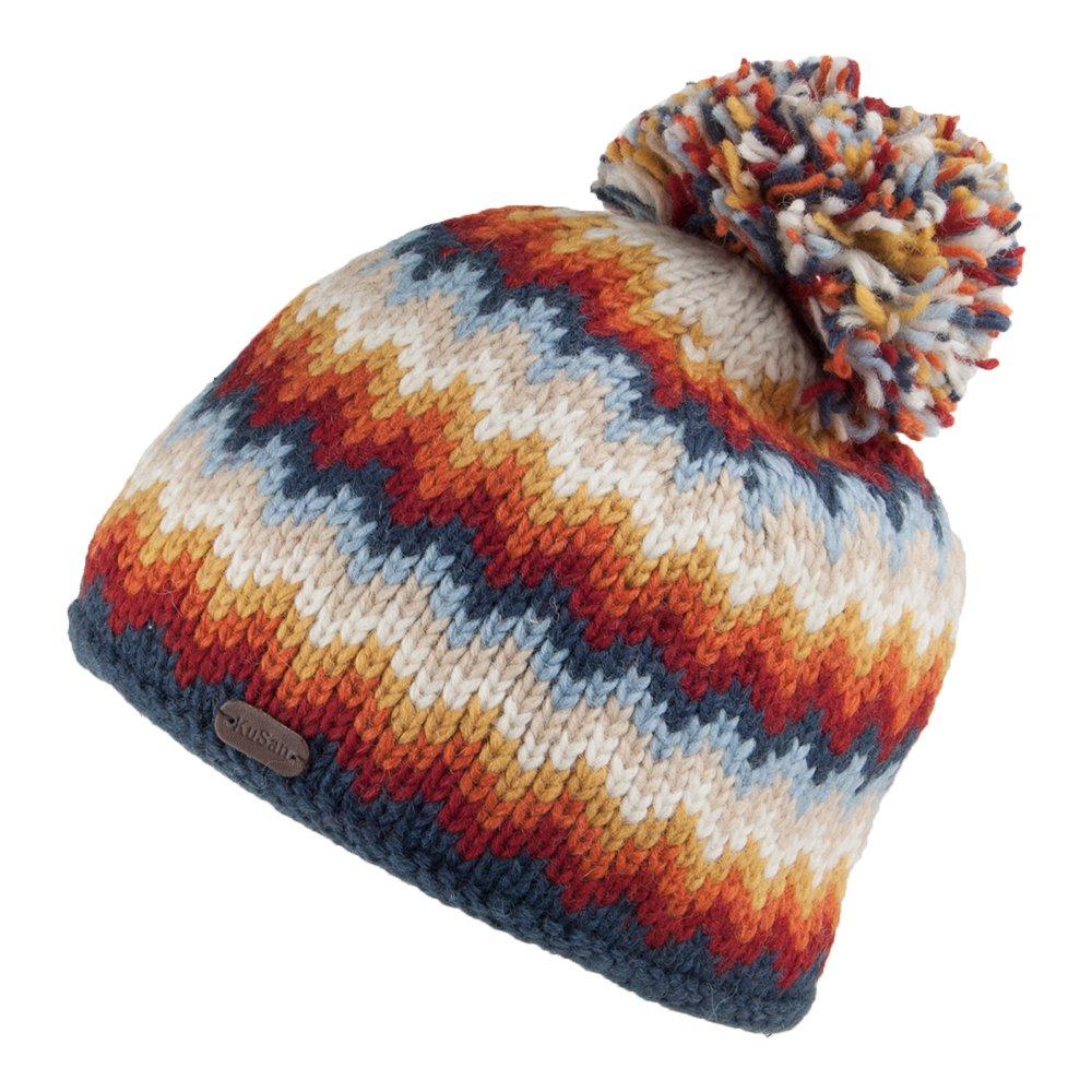 7a43710d7 Kusan Hats Zig Zag Bobble Hat - Blue-Orange 1-Size: Amazon.co.uk ...