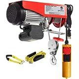 Partsam 1100 lbs Lift Electric Hoist Crane Remote Control Power System, Zinc-Plated Steel Wire Overhead Crane Garage…