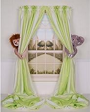Curtain Critters ALELLN230510COL Plush Safari Elephant and Lion Collector Set