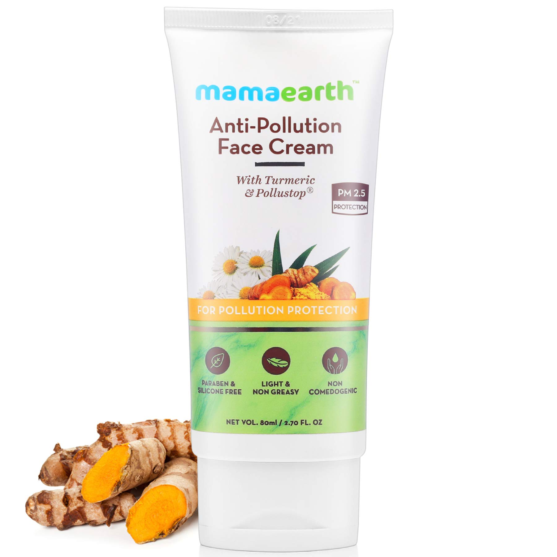 Mamaearth Anti-Pollution Daily Face Cream for Dry & Oily Skin with Turmeric & Pollustop® For a Bright Glowing Skin 80ml