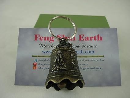 Amazon.com: Feng Shui Diosa Kuan Yin Bell Llavero en ...