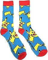 pokemon chaussettes pikachu enfant bleu et rouge taille unique
