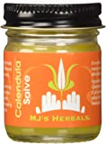 MJ's Herbals Calendula Salve 1 Ounce Concentrate: Sensitive Skin Treatment, Organic, No Gluten, No Synthetics, No Parabens, No Petroleum, No Artificial Fragrance (Balm, Ointment, Cream, Moisturizer)