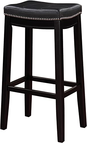 Linon-Claridge-Bar,-Black-Stool,-32