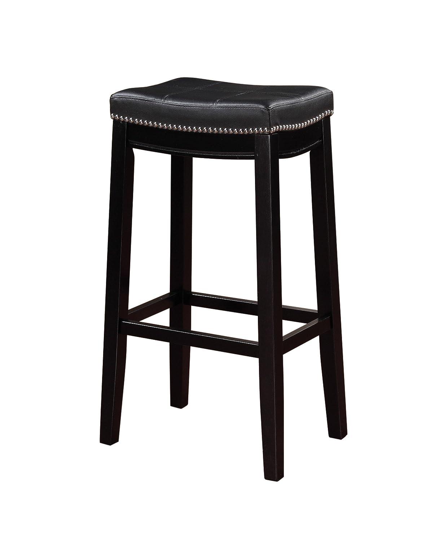 """Linon 55816BLK01U Claridge Bar, Black Stool 32"""" X 18.75"""" X 13"""""""