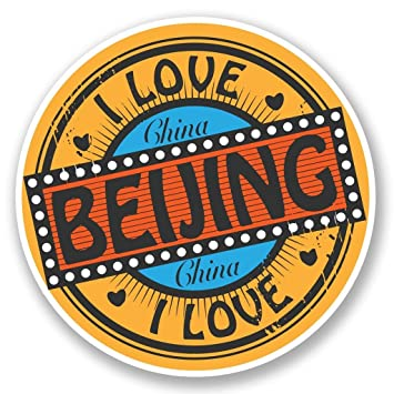 2 x Beijing China Vinyl Sticker Laptop Travel Luggage Car #5522