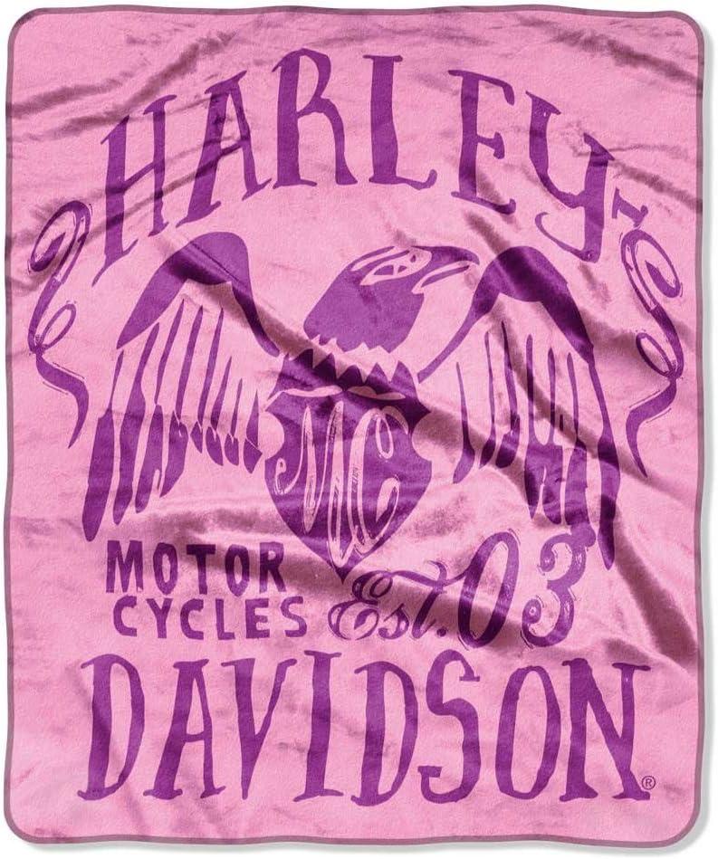 Harley-Davidson Symbolic Royal Plush Raschel Blanket