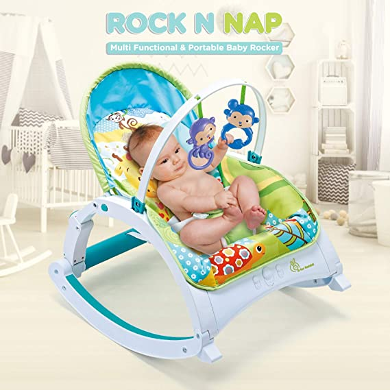 R for Rabbit Rock N Nap Rocker Chair for Baby-Musical Rockers for New Born Babies(Green)