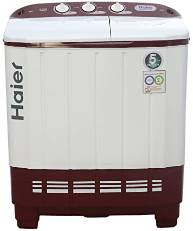 Haier 6.2 kg Semi-Automatic Top Loading Washing Machine (XPB62-0613RU, on