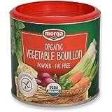 Morga USDA-ORGANIC Vegetable Bouillon Powder (5.3oz | 150g) (Veggie Bullion | Broth | Stock | Base | Soup | Cubes | Herbs | Seasoning)