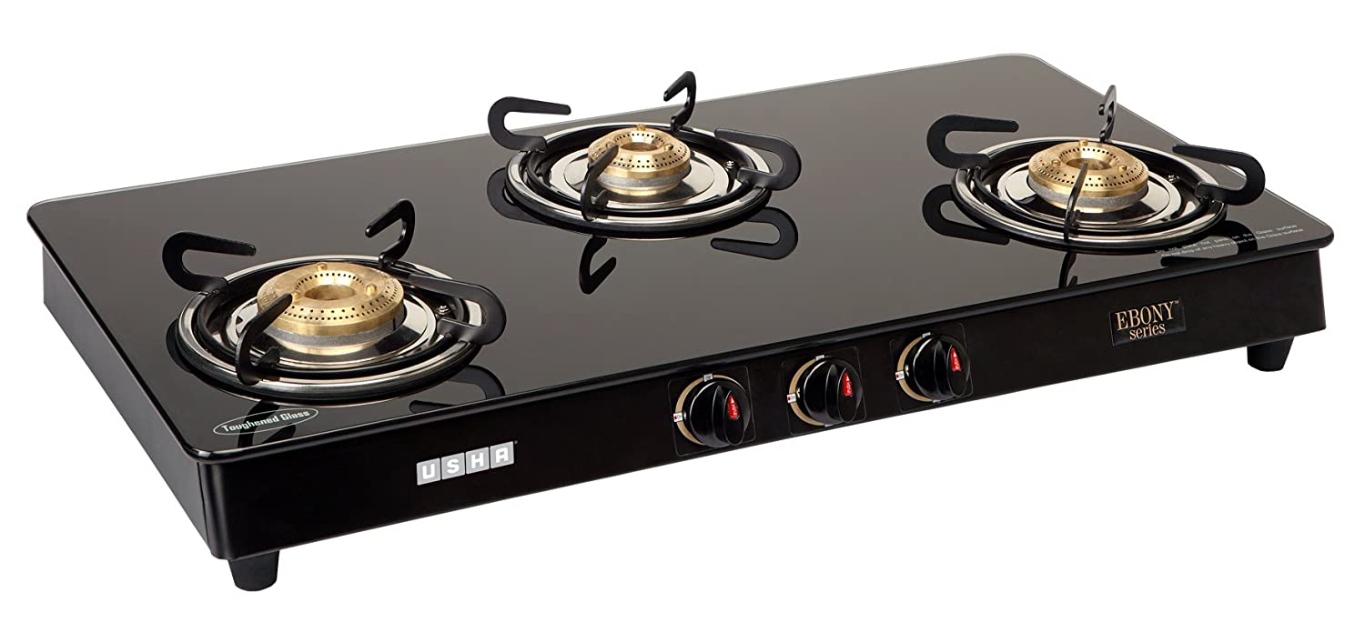 Gas Cooktop Glass Buy Usha Eb Gs3 001 Cooktop Ebony 3001 Black Online At Low