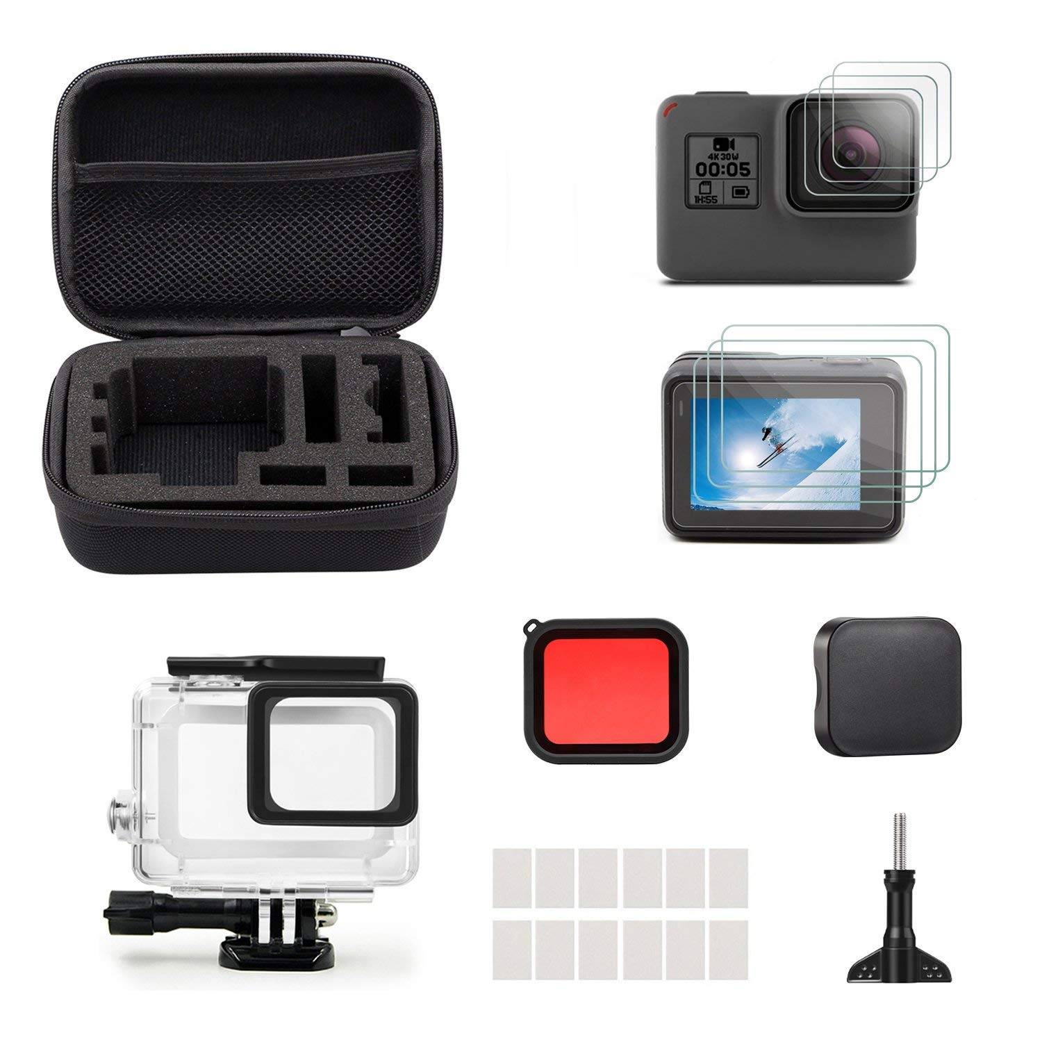 83352703 Accessories for Gopro Hero 7 Hero 5 Hero 6 Hero 2018 iTrunk 23 in 1 Gopro  Accessories Kit Mount for Gopro Go Pro Hero7 Hero 2018 Hero6 Hero5 Black  Action ...