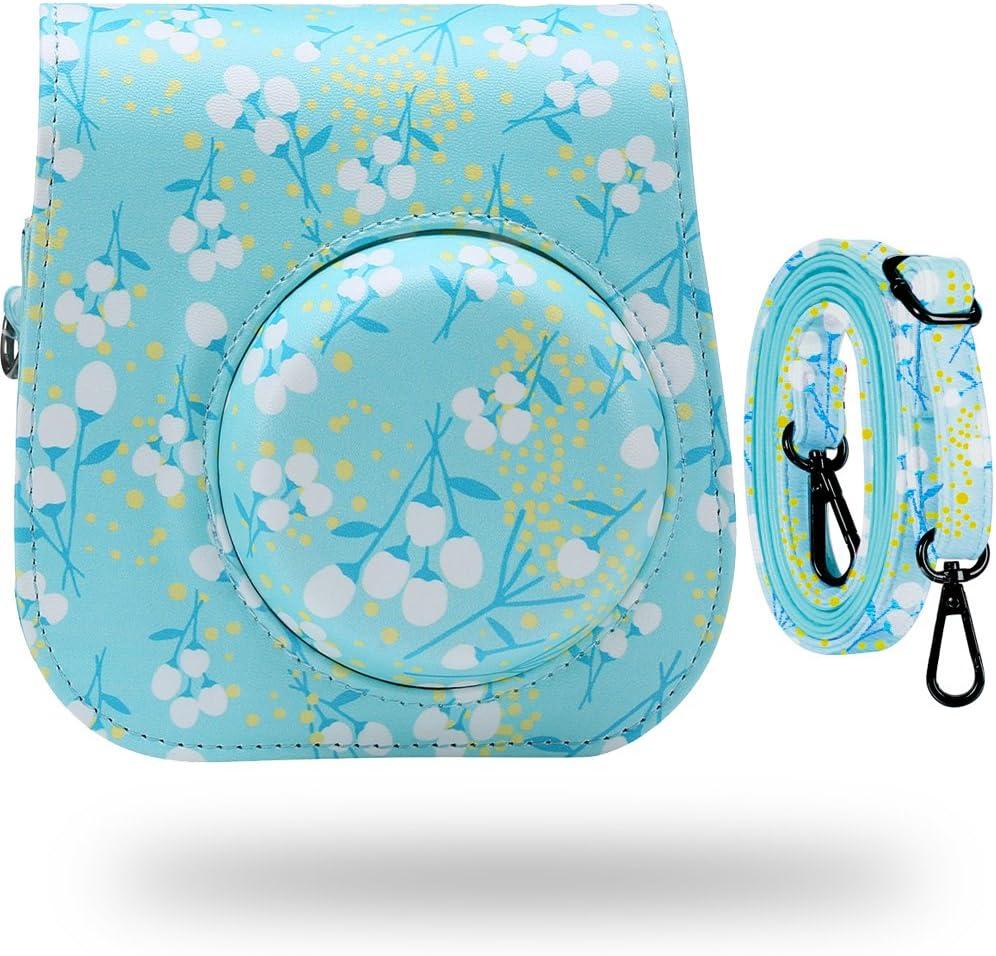 Katia Camera Case Bag Compatible for Fujifilm Instax Mini 11/9/ 8+/ 8 Instant Film Camera with Shoulder Strap and Photo Accessories Pocket - Kapok