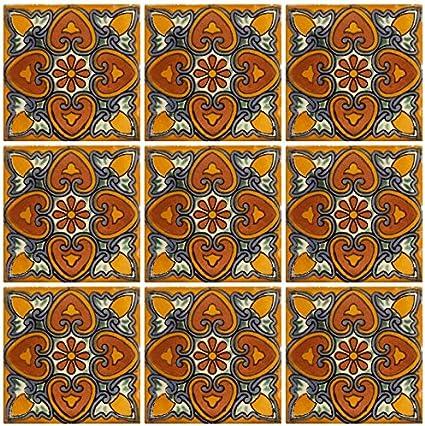 nicht Aufkleber /ex144g Keramik Talavera Mexikanische Fliese 4/x 4, 9/St/ück A1/Export Qualit/ät./