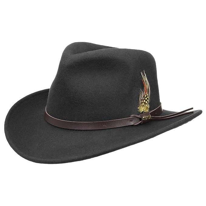 Sombrero Outback Western sombrero de fieltrosombrero de fieltro de lana  (M 56-57 60ef5f58994