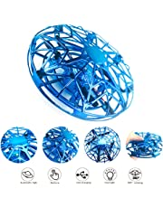 Hand Operated Drone for Kids Toddlers Adults,UFO Mini Drones Flying Drones Induction Toys Gesture Controlled Easy Indoor UFO Flying Ball Drone Toys for Boys or Girls (Blue)