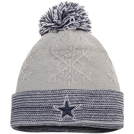 ... hot dallas cowboys new era womens snow crown redux pom knit beanie hat  cap 8c63e 0a85d cdf4c6889