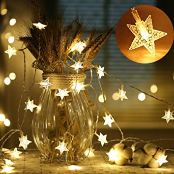 Livehitop Sterne Lichterkette 40 Led 6m 20ft Sternenlicht