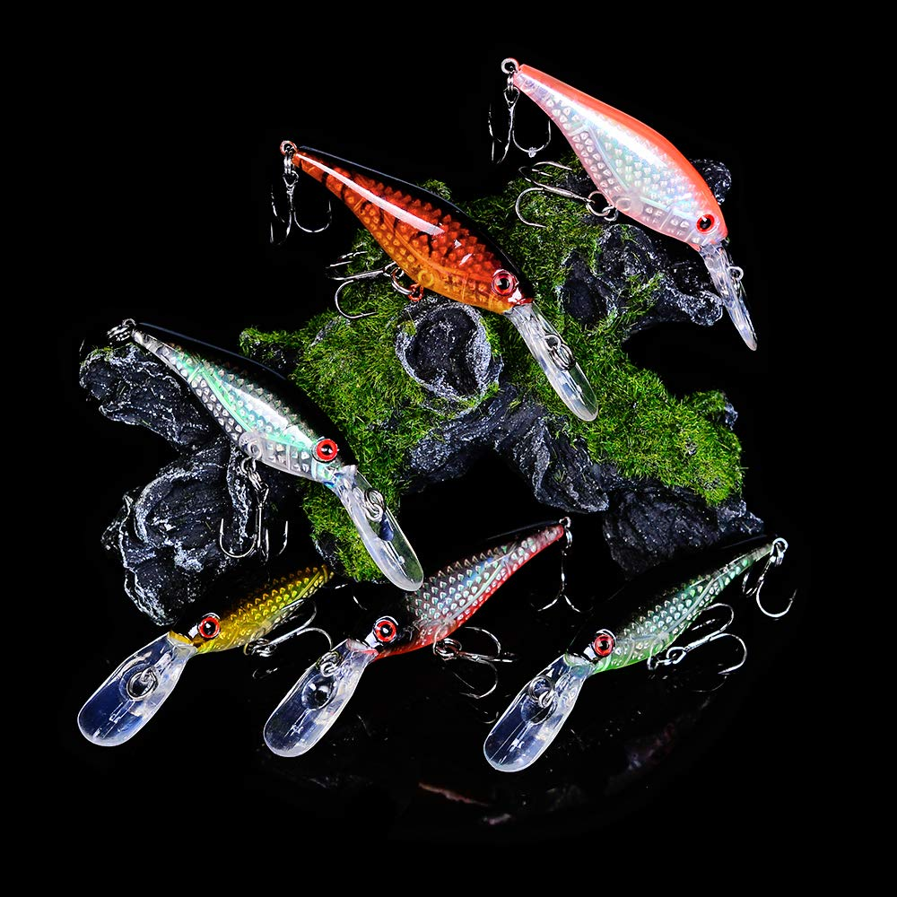 """1PC 6 colors 4.5g-0.16oz Fishing Lures 8.2cm-3.23/"""" fishing Tackle  8# Hook bait"""