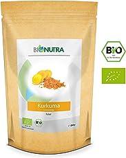BioNutra Kurkuma-Pulver Bio 250 g, natürliche Curcumin-Quelle, fein gemahlenes Kurkuma aus kontrolliert biologischem Anbau