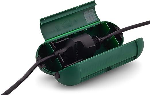 Protector de cable y enchufe protección Seguridad Caja fuerte TYBOX para cable y enchufe, ideal para el jardín de distribución de exterior para una mayor seguridad en la conexión de cable: Amazon.es: