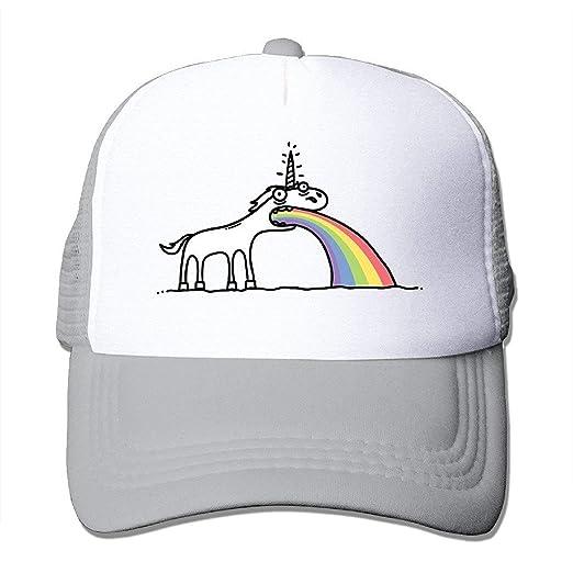 b10aadebc66 Amazon.com  Adult Unisex Rainbow Unicorn Baseball Caps Visor Hat for Outdoor  Sports  Clothing
